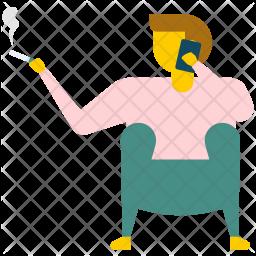 Bathroom Smoker Icon