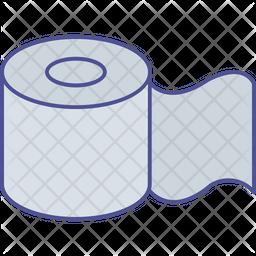 Bathroom tissue roll Icon