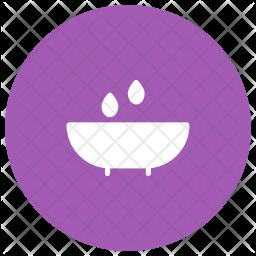 Bathtub Glyph Icon
