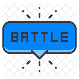 Battle Colored Outline Icon