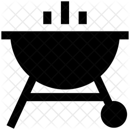 Bbq Glyph Icon