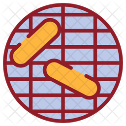 Bbq Party Colored Outline Icon