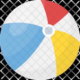Beach Ball Flat Icon