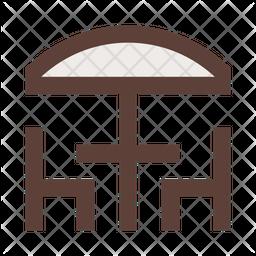 Beach Chair Table Icon