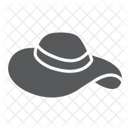 Beach Hat Icon Of Glyph Style Available In Svg Png Eps Ai Icon Fonts