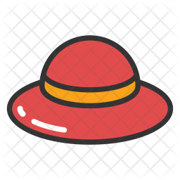 Beach Hat Icon Of Colored Outline Style Available In Svg Png Eps Ai Icon Fonts