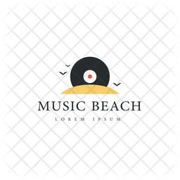 Beach Logo Colored Outline Icon