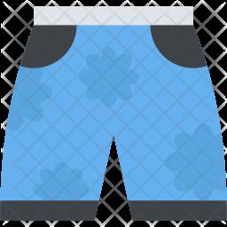 Beach Shorts Flat Icon