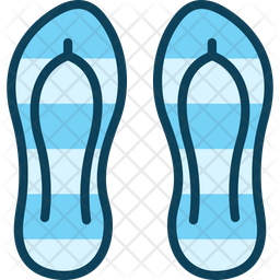 Beach Slipper Icon Of Colored Outline Style Available In Svg Png Eps Ai Icon Fonts