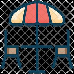 Beach Table Icon