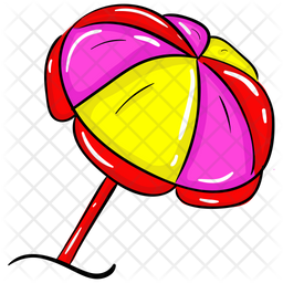 Beach Umbrella Icon Of Doodle Style Available In Svg Png Eps Ai Icon Fonts