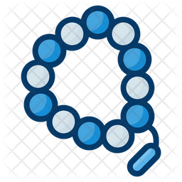 Beads Colored Outline Icon