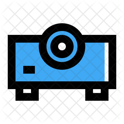 Beamer Colored Outline Icon