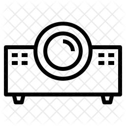 Beamer Line Icon