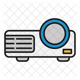 Beamer HD Colored Outline Icon