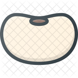 Bean Colored Outline Icon