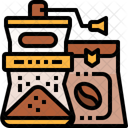 Bean blender Colored Outline Icon