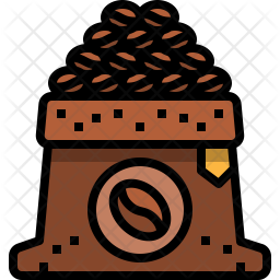 Beans Colored Outline Icon
