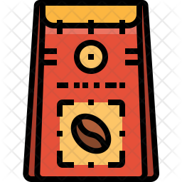 Beans bag Colored Outline Icon