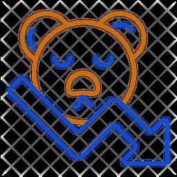 Bear Market Line Icon