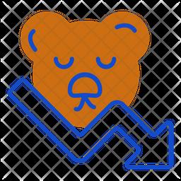 Bear Market Dualtone Icon