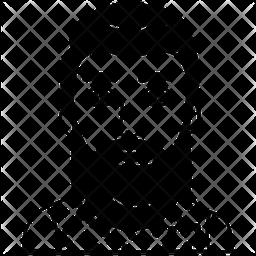 Beard Man Avatar Glyph Icon