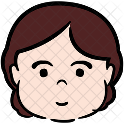Beautiful Girl Colored Outline Icon
