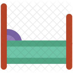 Bed Colored Outline Icon