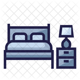Bedroom Icon Of Colored Outline Style Available In Svg Png Eps