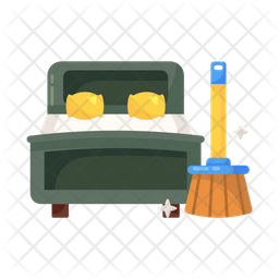 Bedroom Cleaning Icon