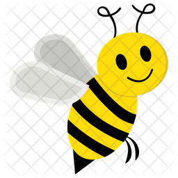 Bee Icon of Flat style - Available in SVG, PNG, EPS, AI & Icon fonts