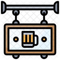 Beer Shop Board Icon