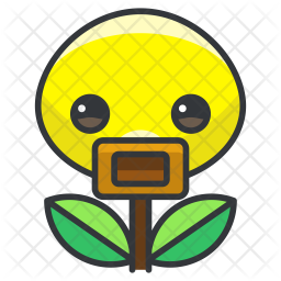 Bellsprout Colored Outline Icon