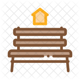 Bench Colored Outline Icon