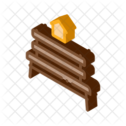 Bench Isometric Icon
