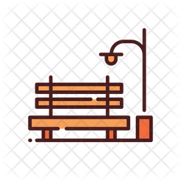 Bench and lamp Icon