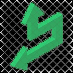 Bend Left Arrow Icon