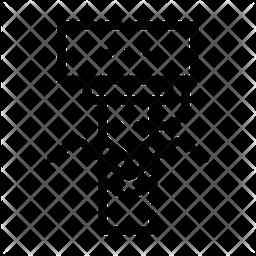 Bending Metal Icon