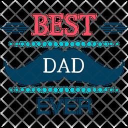 Best Dad Badge Icon