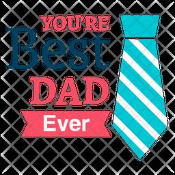 Best Dad Label Icon