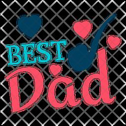 Best Dad Logo Icon