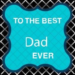 Best Dad Sticker Icon