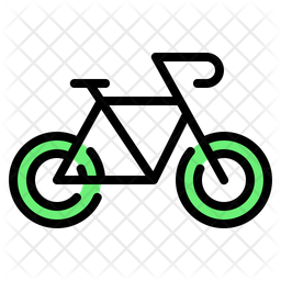 Bicycle Colored Outline Icon
