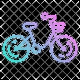 Bicycle Gradient Icon