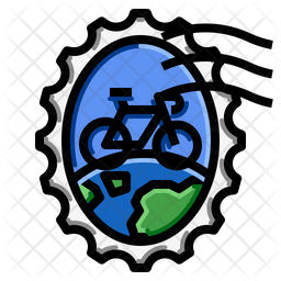 Bicycle World Stamp Icon Of Colored Outline Style Available In Svg Png Eps Ai Icon Fonts