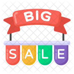 Big Sale Banner Flat Icon