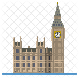 Big Ben and Houses of Parliament Icon