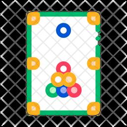 Billiard Colored Outline Icon