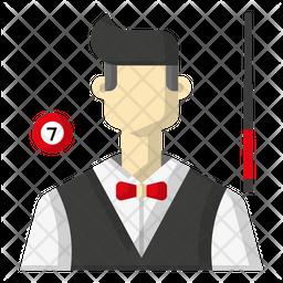 Billiard player Icon