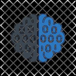Binary Brain Icon